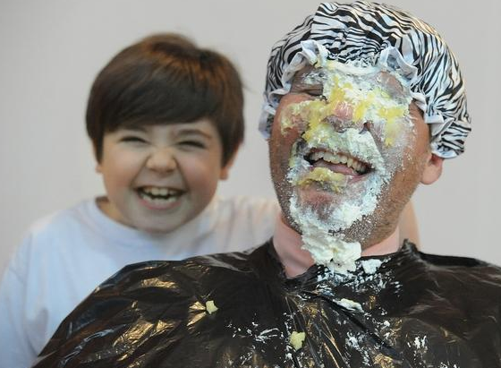 Tansey principal gets pie faced