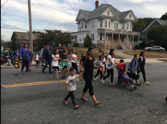 Steps to success: Fall River students turn out in droves for International Walk to School Day
